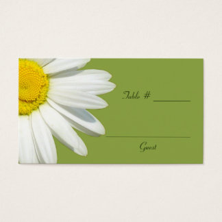 White Daisy Wedding Table Place Cards