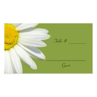 White Daisy Wedding Table Place Cards Business Card