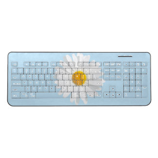white daisy wireless keyboard