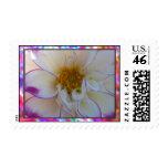 White Dalia Flower Stamps