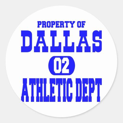 White Dallas Athletic Dept Classic Round Sticker