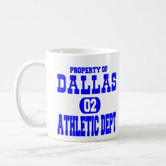 White Dallas Athletic Dept Coffee Mug