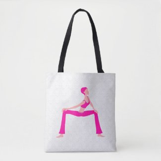 White Damask And Pink And Skin Tones Yoga Pose
