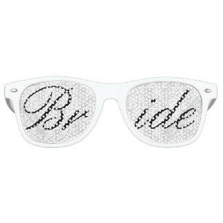 White Damask Bride Fun Bachelorette Party Glasses Retro Sunglasses