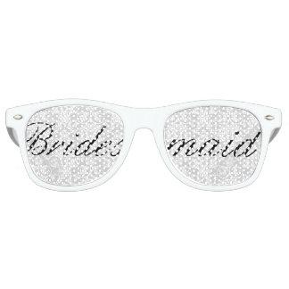 White Damask Bridesmaid Bachelorette Party Glasses Wayfarer Sunglasses