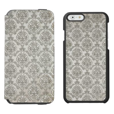 White Damask iPhone 6/6S Wallet Case