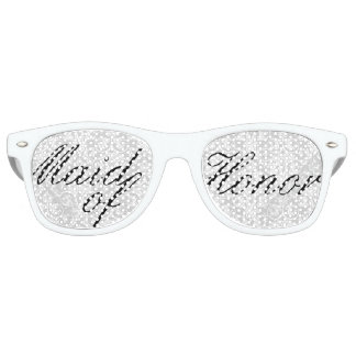 White Damask Maid of Honor Bachelorette Party Wayfarer Sunglasses