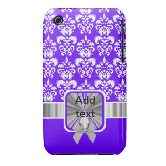 white damask on any color iPhone 3 cover