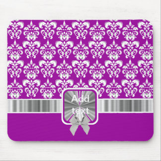 white damask on any color mouse pad