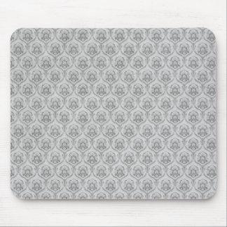 White Damasks Pattern BAckground Mouse Pad