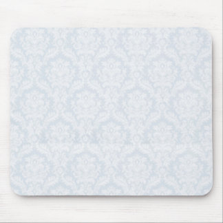 White damasks pattern with crease mouse pad