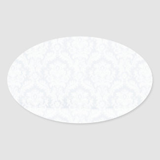 White damasks pattern with crease oval sticker