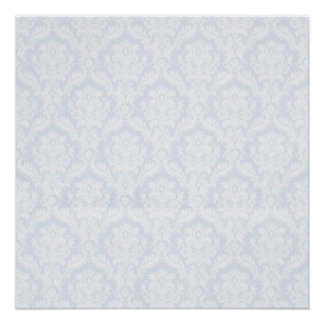 White damasks pattern with crease poster