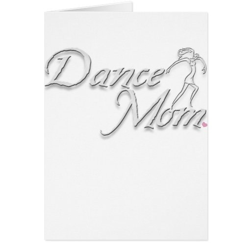 white dance mom for black greeting cards
