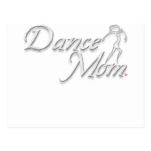white dance mom for black postcard