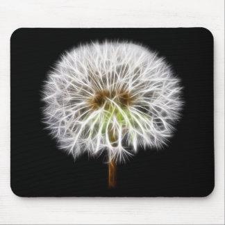 White Dandelion Flower Plant Mouse Pad