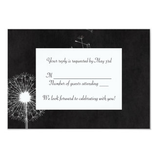 White Dandelion RSVP Card