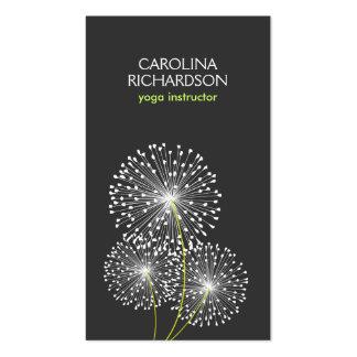 WHITE DANDELIONS YOGA TEACHER YOGA INSTRUCTOR BUSINESS CARD TEMPLATE