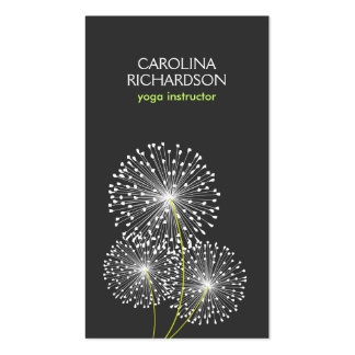 WHITE DANDELIONS YOGA TEACHER, YOGA INSTRUCTOR Double-Sided STANDARD BUSINESS CARDS (Pack OF 100)