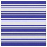 [ Thumbnail: White & Dark Blue Colored Pattern Fabric ]