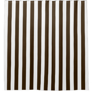 Brown And White Shower Curtains Zazzle