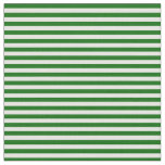[ Thumbnail: White & Dark Green Colored Lined Pattern Fabric ]