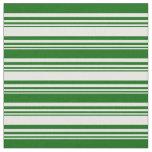 [ Thumbnail: White & Dark Green Colored Pattern Fabric ]