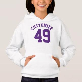 White & Dark Purple Kids | Sports Jersey Design Hoodie