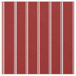 [ Thumbnail: White & Dark Red Colored Lined/Striped Pattern Fabric ]