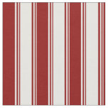 [ Thumbnail: White & Dark Red Colored Pattern Fabric ]