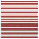 [ Thumbnail: White & Dark Red Colored Striped Pattern Fabric ]