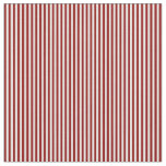 [ Thumbnail: White & Dark Red Colored Stripes Fabric ]