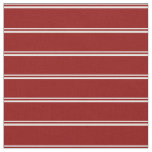 [ Thumbnail: White & Dark Red Stripes Pattern Fabric ]