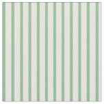 [ Thumbnail: White & Dark Sea Green Striped/Lined Pattern Fabric ]