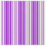 [ Thumbnail: White & Dark Violet Lined/Striped Pattern Fabric ]