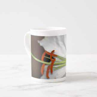 White day lily and its meaning porcelain mug