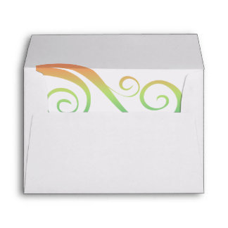 White Decorative Convenient Pre-Addressed Envelopes