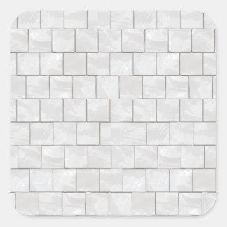 White Decorative Marble Tile Background Square Sticker