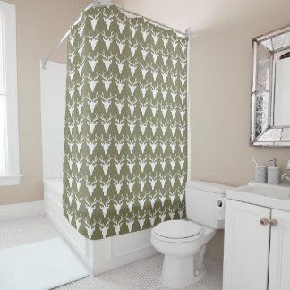 White Deer Custom Tan Shower Curtain