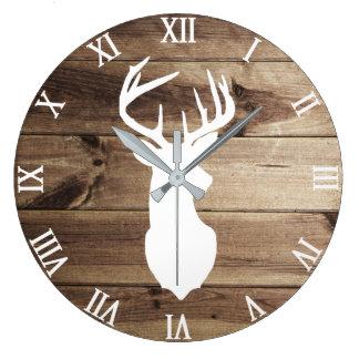 white deer silhouette wall clock