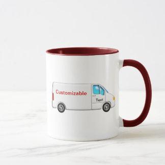 White Delivery Van - Customizable Mug
