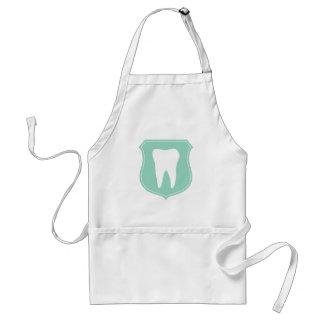 White dentist or hygienist apron for dental office