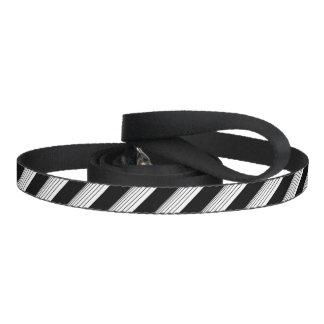 White Diagonal Stripes Dog Leads