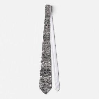 White Diamond Bling Tie