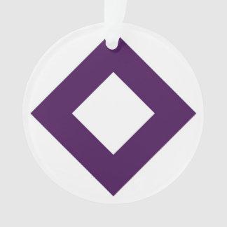 White Diamond, Bold Purple Border