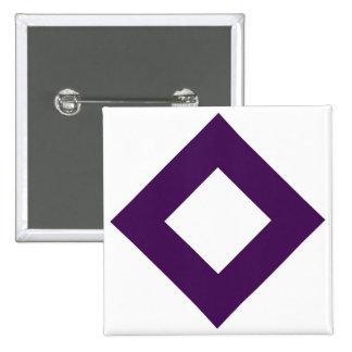 White Diamond, Bold Purple Border Pinback Button