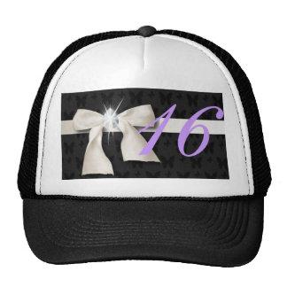 White Diamond Bow Sweet 16 Trucker Hat