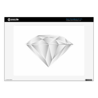 White Diamond for my sweetheart Acer Chromebook Decals