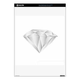 White Diamond for my sweetheart Decals For PS3 Slim