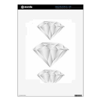 White Diamond for my sweetheart iPad 2 Decals